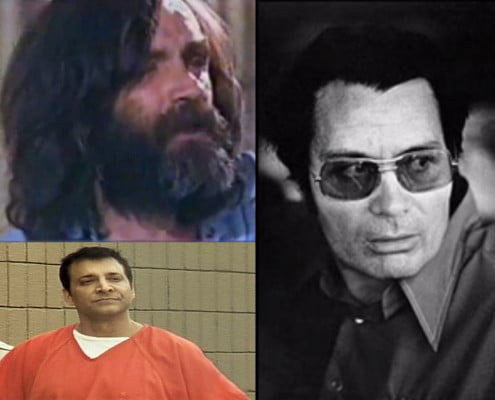 Gurus, Cults And Brainwashing - Charles Manson (top left) Reverend Jim Jones (right) James Arthur Ray (bottom)