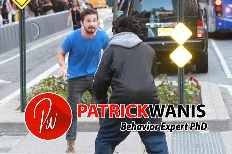 Shia LaBeaouf in a confrontation with a homeless man hours before his arrest. (Photo: TMZ.com/Splash News)
