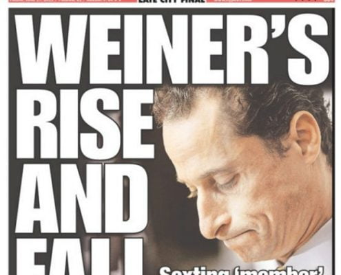 4 Reasons Weiner Sexted Yet Again - that was in 2011 and he did it again in August 2016