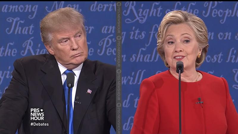 politics trump clinton body language