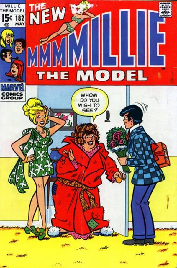 Marvel Comic - Millie The Model May 1970. Millie's cousin Cuddles is portrayed as ugly, unattractive, unaware, stupid and unwanted