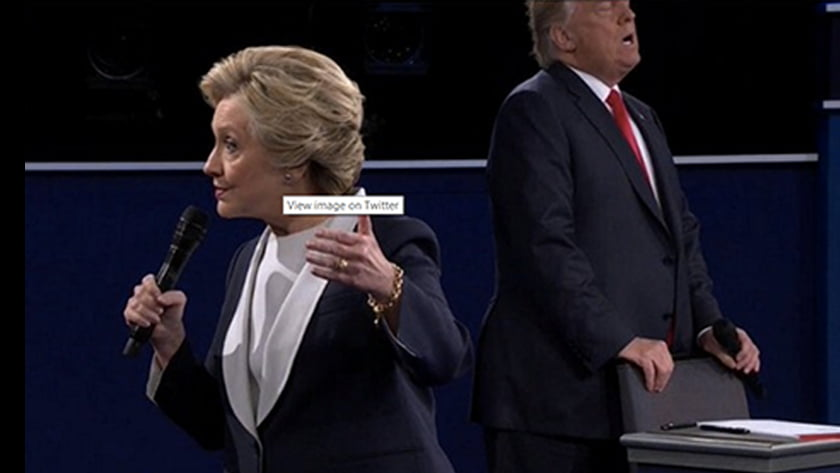 Second US Presidential Debate - Body Language Analysis - Hilary Clinton speaks while Donald Trump appears to be in anguish and pain. Trump sniffled over 80 times during the debate
