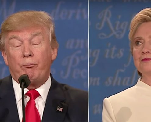 Donald Trump sniffing deeply during the third presidential debate - Body Language Analysis