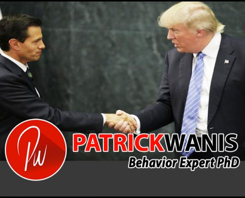 Trump's Body Language of Submission - Trump Alpha Male Submits To Mexican President